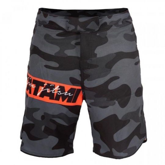 Tatami Red Bar Camouflage BJJ Shorts