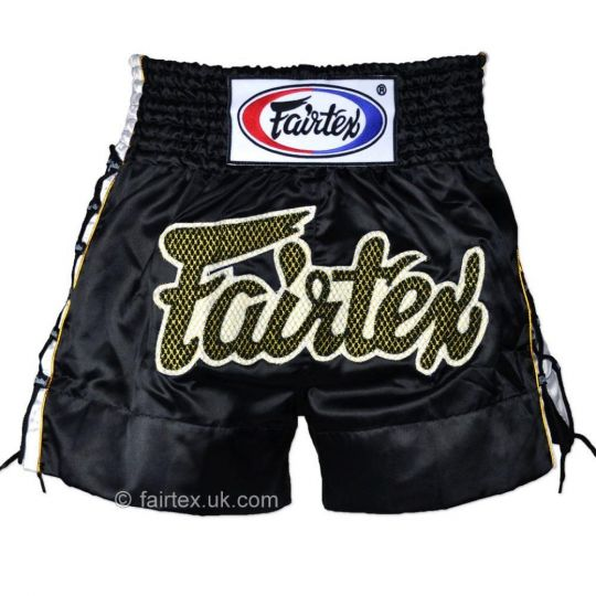 Fairtex Laced Sides Muay Thai Shorts - Black