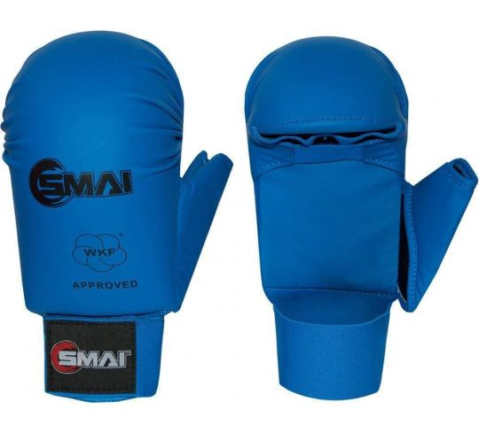 Blitz SMAI WKF Approved Gloves With Thumb Blue - Fight Equipment UK