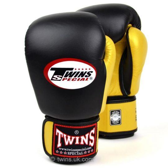 Twins 2 Tone Boxing Gloves - Black/Gold