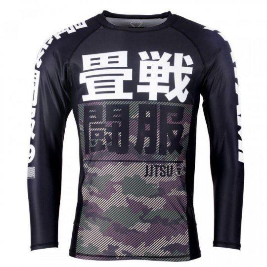Tatami Kids Essential BJJ Rash Guard - Grüne Camouflage