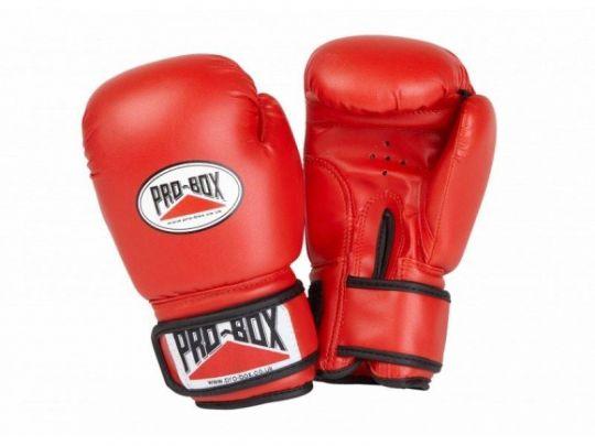 Pro Box Kinder Base Spar Boxing Gloves - Red