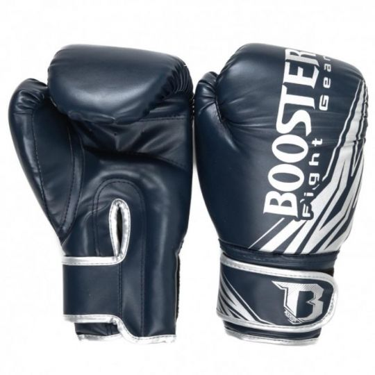 Booster BT Champion Kids Boxing Gloves - Blue/Silver
