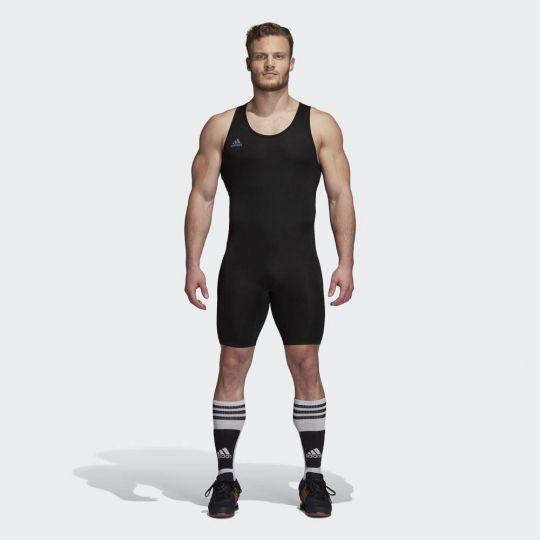 Adidas Powerlift Gewichtheberanzug - Schwarz