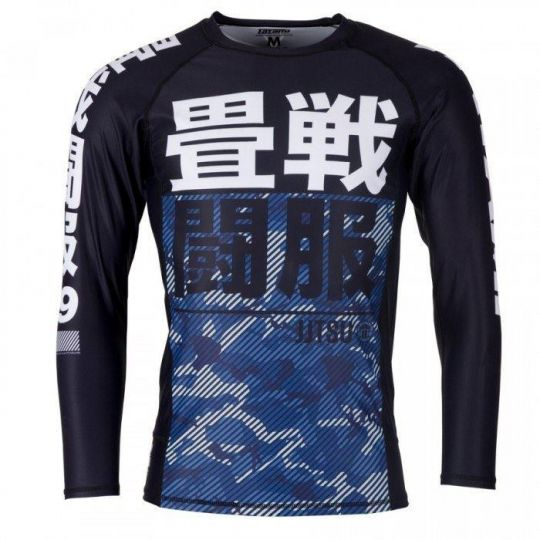 Tatami Kids Essential BJJ Rash Guard - Blaue Camouflage