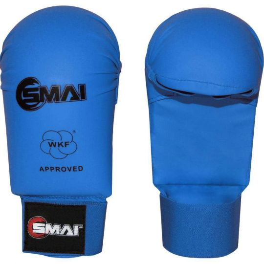 Blitz SMAI WKF Approved Gloves Without Thumb Blue - Fight Equipment UK
