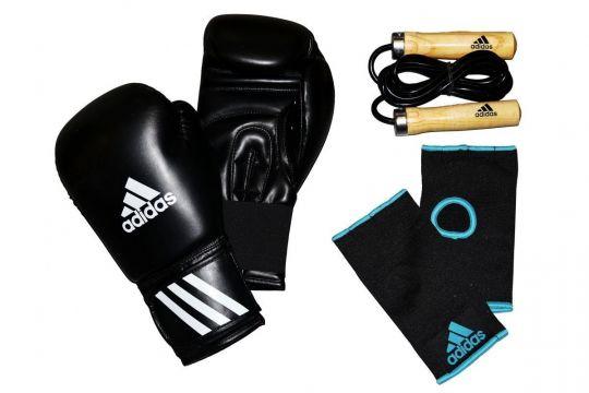 Adidas Boxing Kit, Handschuhe, Seil & Innenhandschuhe