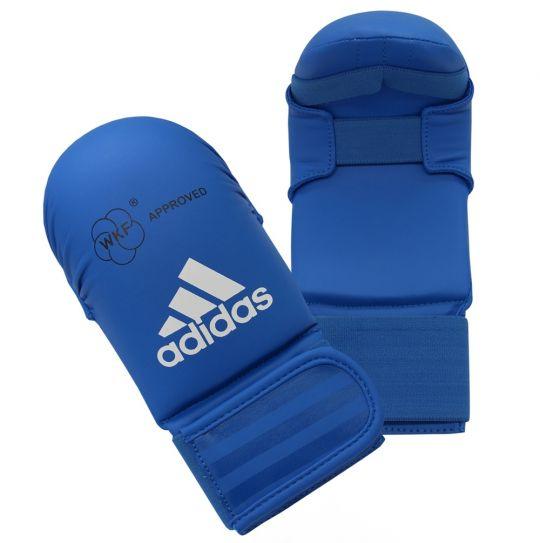 Adidas WKF Karate Mitts ohne Daumen - Blau