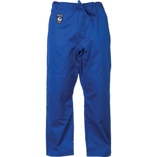 Blitz Sport Adult Cotton Student Judo Pants blue