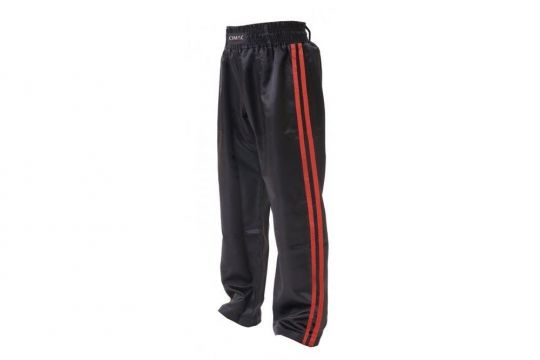 Cimac Satin Kickboxing Trousers - Red Stripes