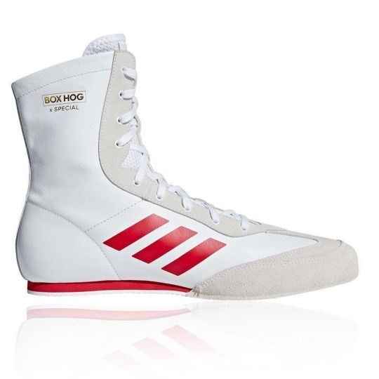 Adidas Box Hog Special Boxing Boots - White