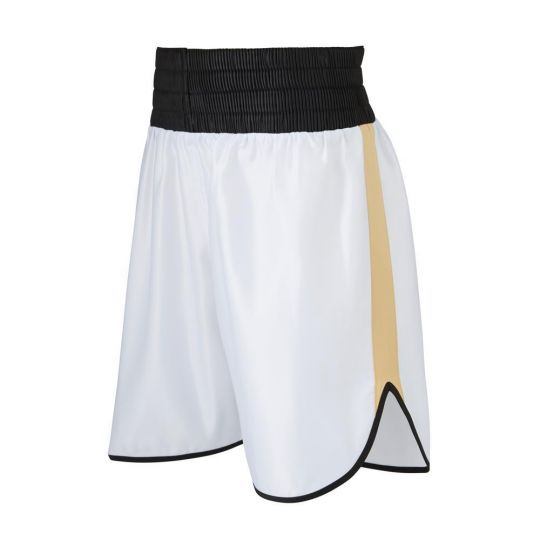 SW Burnett Boxing Shorts - White/Gold