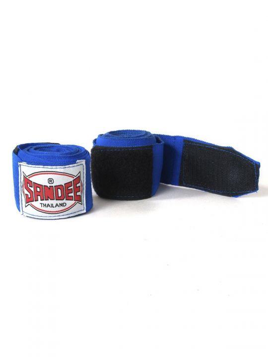 Sandee Muay Thai 2,5 Meter Stretch Hand Wraps - Blau