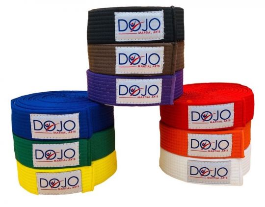 Dojo Deluxe Plain Coloured Belt