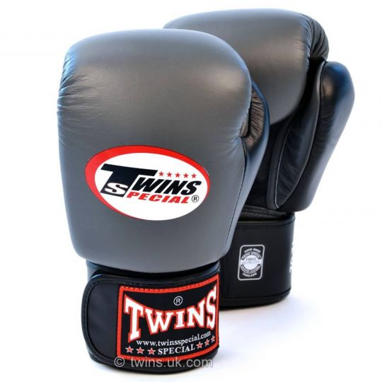 Twins Special 2 Tone Grey/Black Boxing Gloves