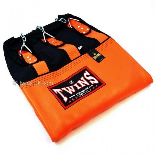 Twins Un-Filled 6ft Heavy Leather-Nylon Heavy Bag Orange