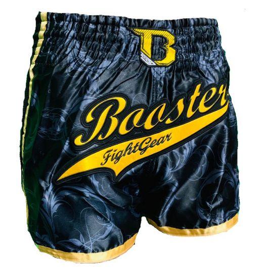 Booster Pro Retro Slugger Muay Thai Shorts - Black/Gold