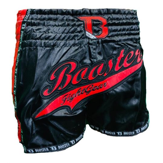 Booster TBT Pro Slugger Muay Thai Shorts - Black/Red