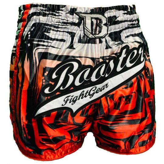 Booster Labyrint Muay Thai Shorts - Weiß / Rot