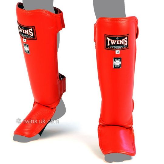 Twins-Special-Slim-Muay-Thai-Shin-Guards-Red