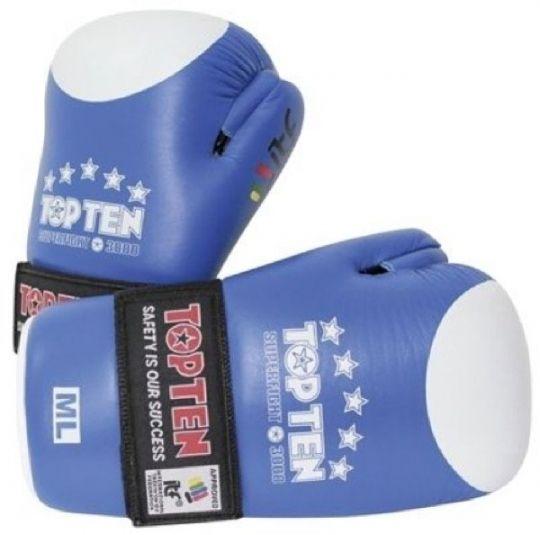 Top Ten Open Hand Superfight ITF Handschuhe Blau