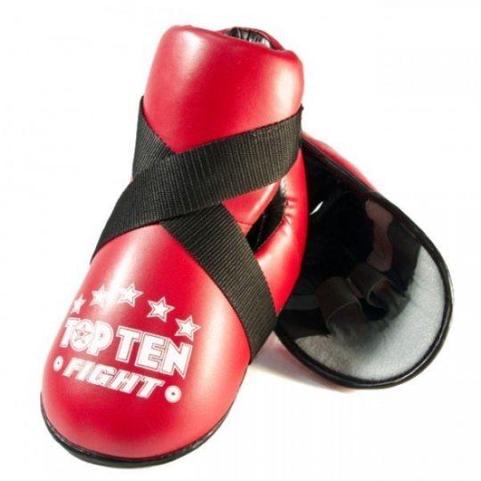 Top Ten Fight Kick Protektoren Rot