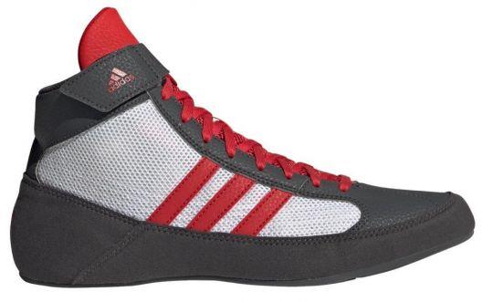 Adidas Havoc Kids Wrestling Boots - Grey/Red