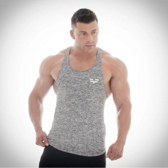 Gym Freak Mens Fusion Vest - Dark Grey