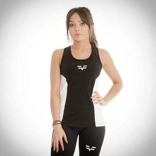 Gym Freak Womens Active Vest - Black