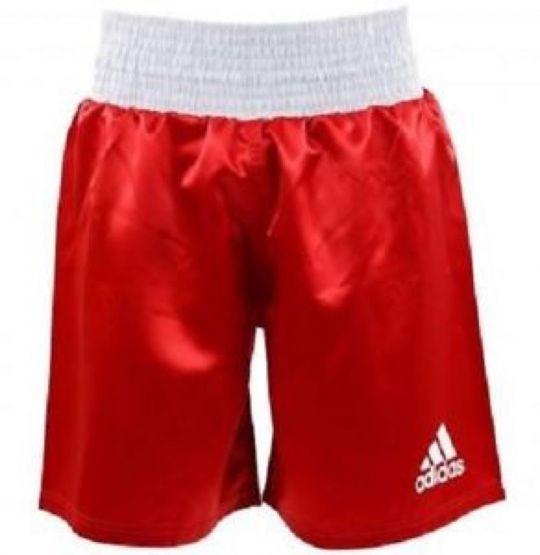 Adidas Satin Boxshorts - Rot / Weiß - XLarge