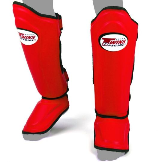 Twins Double Padded Shin Guards - Rot