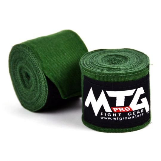 MTG Pro Boxing Hand Wraps - Green - 5m