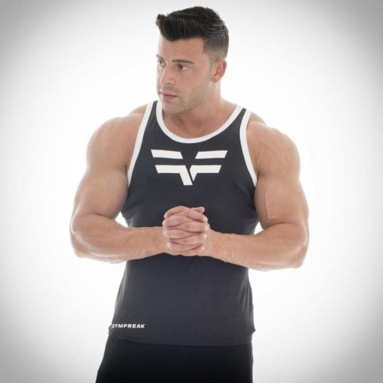 Gym Freak Mens Pro Vest - Black