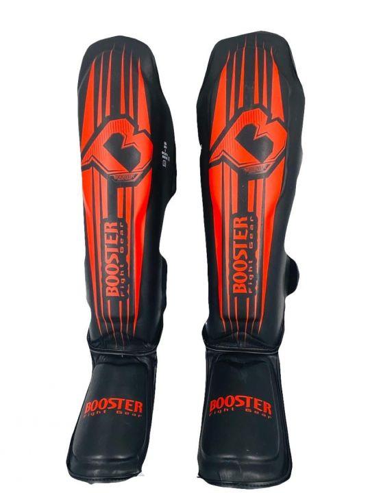 Booster V7 Shin Guards - Black/Red