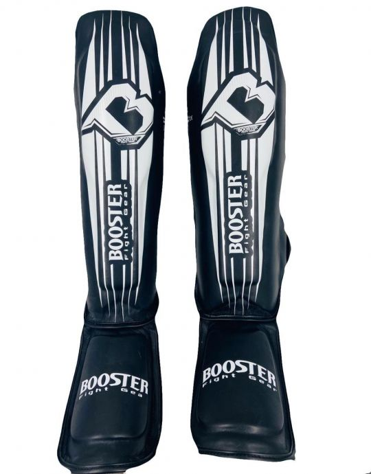 Booster V7 Shin Guards - Black/White