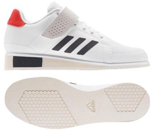 Adidas Power Perfect III Weightlifting Boots - White/Black