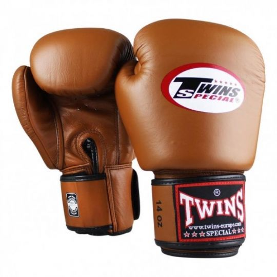 Zwillinge Boxhandschuhe - Braun