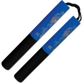 Black / Blue Foam Sicherheitskabel Nunchaku 12 Zoll