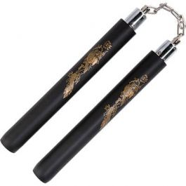 Black Foam Sicherheit Kugellager Nunchaku 12 ''