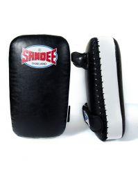 Sandee Kleine Muay Thai Kick Pads - Schwarz / Weiß