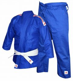 Adidas Kinder Judo Uniform - 250g - Blau