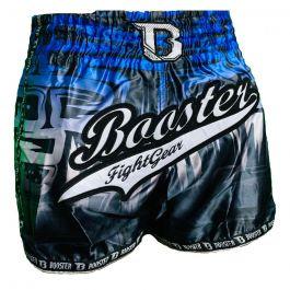 Booster Labyrint Muay Thai Shorts - Schwarz / Blau