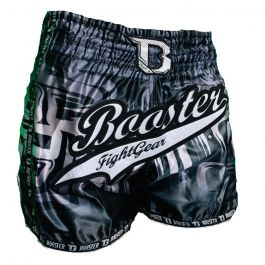 Booster Labyrint Muay Thai Shorts - Schwarz / Silber