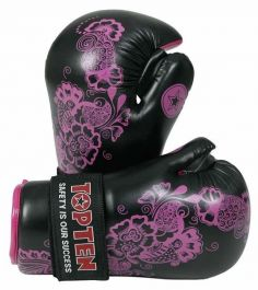 Top Ten Damen Pointfighter Handschuhe - Lila Blume