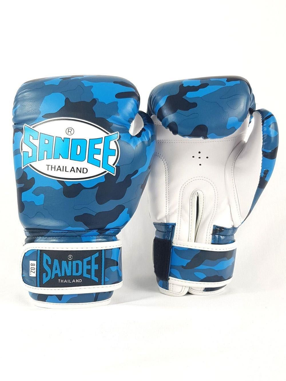 Sandee Kids Muay Thai  Boxing Gloves Authentic Camo Orange