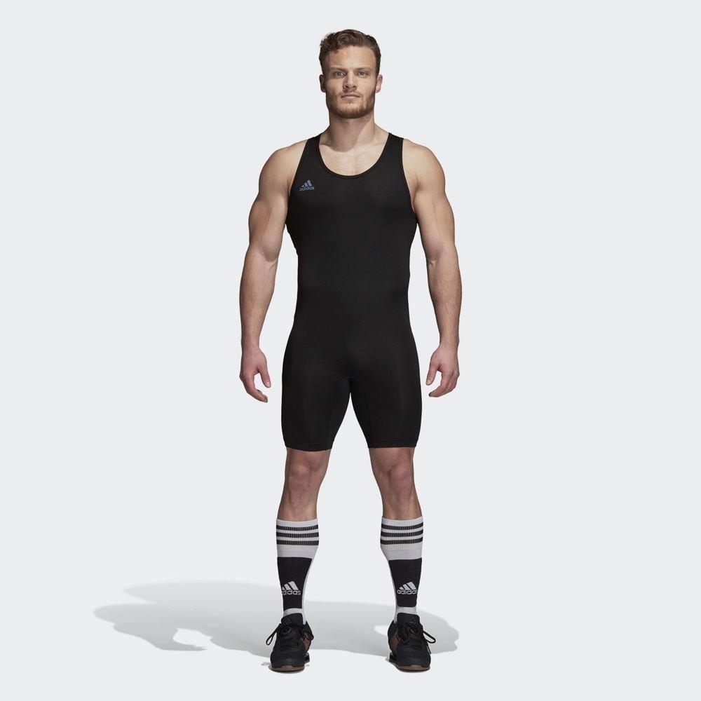 adidas gewichtheber anzug schwarz rot
