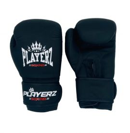 Playerz Kids Club Boxing Gloves - Matt Black